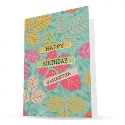 personalised charity birthday ecards - making a difference cards