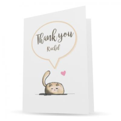 personalised charity thank you cards - making a difference cards