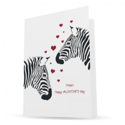 personalised charity valentine card - making a difference cards