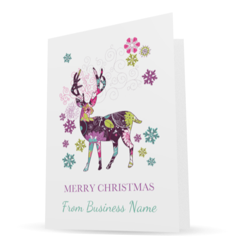 making a difference cards - personalised charity corporate christmas cards deer